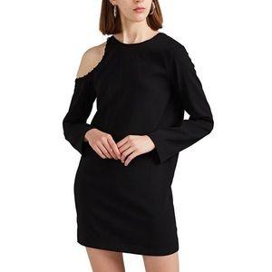 IRO Breen Crepe Cold-Shoulder Dress